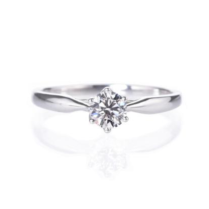 プロポーズ応援(後日グレードアップ可)エンゲージリング、婚約指輪0.2ct【6本爪ソリティア】