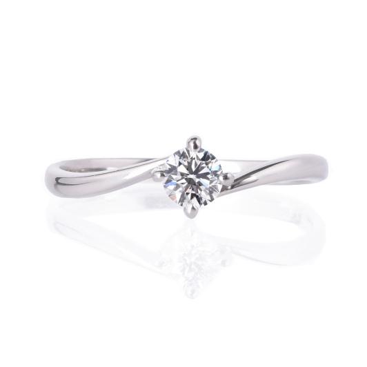 プロポーズ応援(後日グレードアップ可)エンゲージリング、婚約指輪0.2ct【4本爪ソリティア】