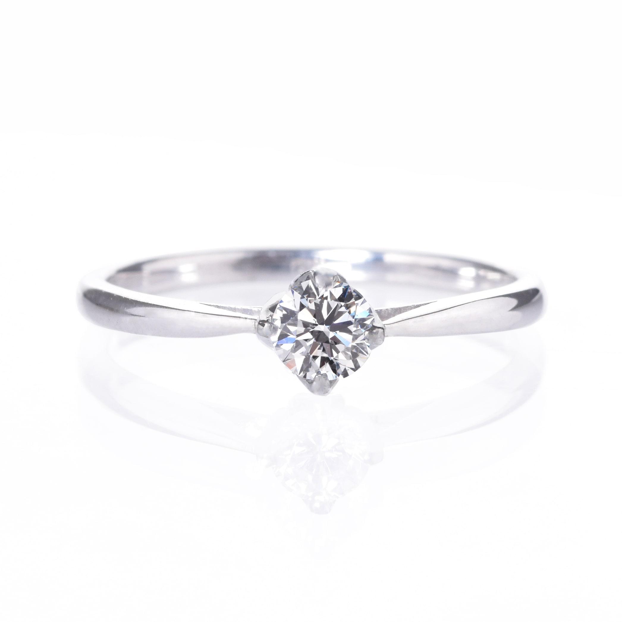 プロポーズ応援(後日グレードアップ可)エンゲージリング、婚約指輪0.2ct 【4本爪ソリティア】