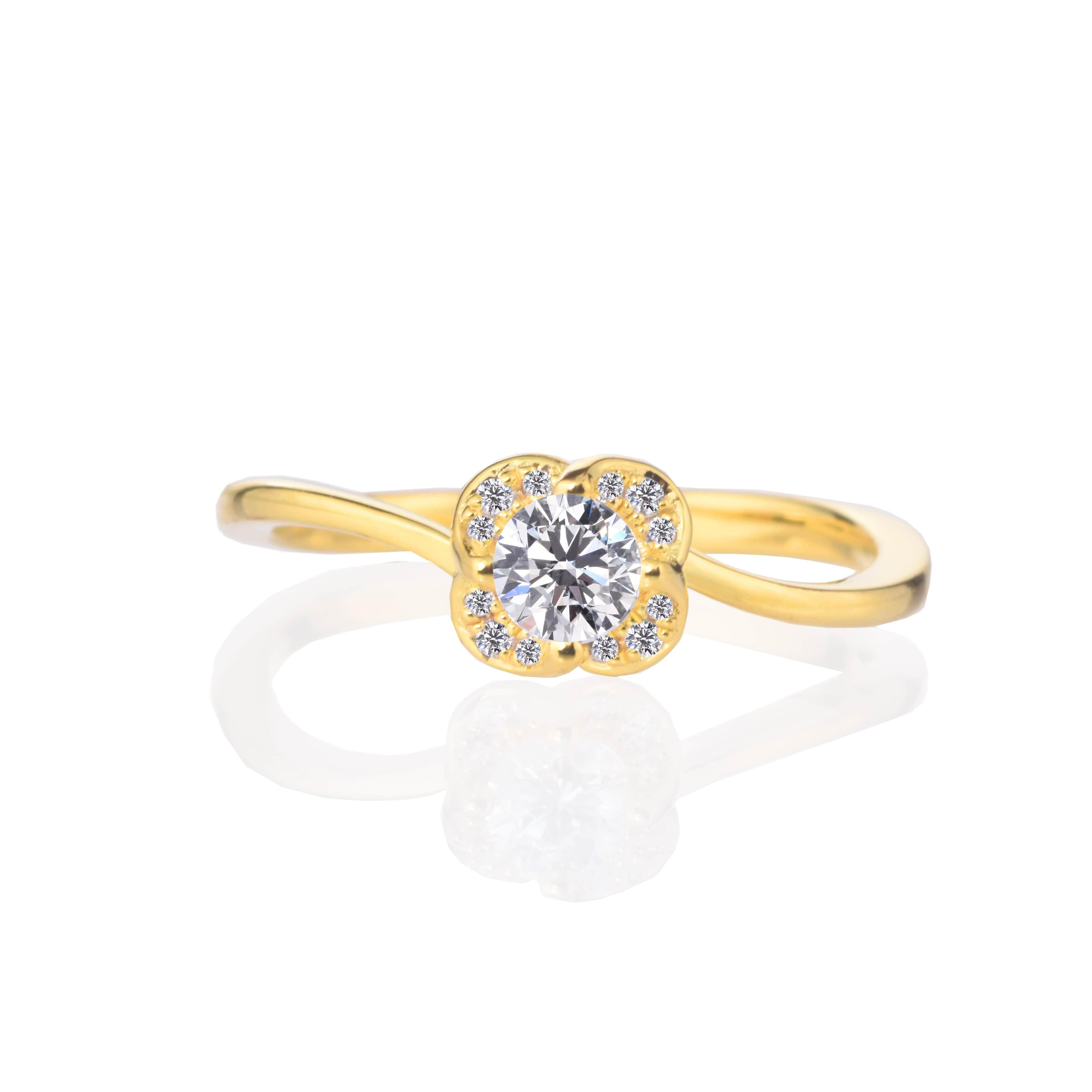 【プロポーズ用】【 0.20ct D SI2 EX】エンゲージリング 婚約指輪【RG210】