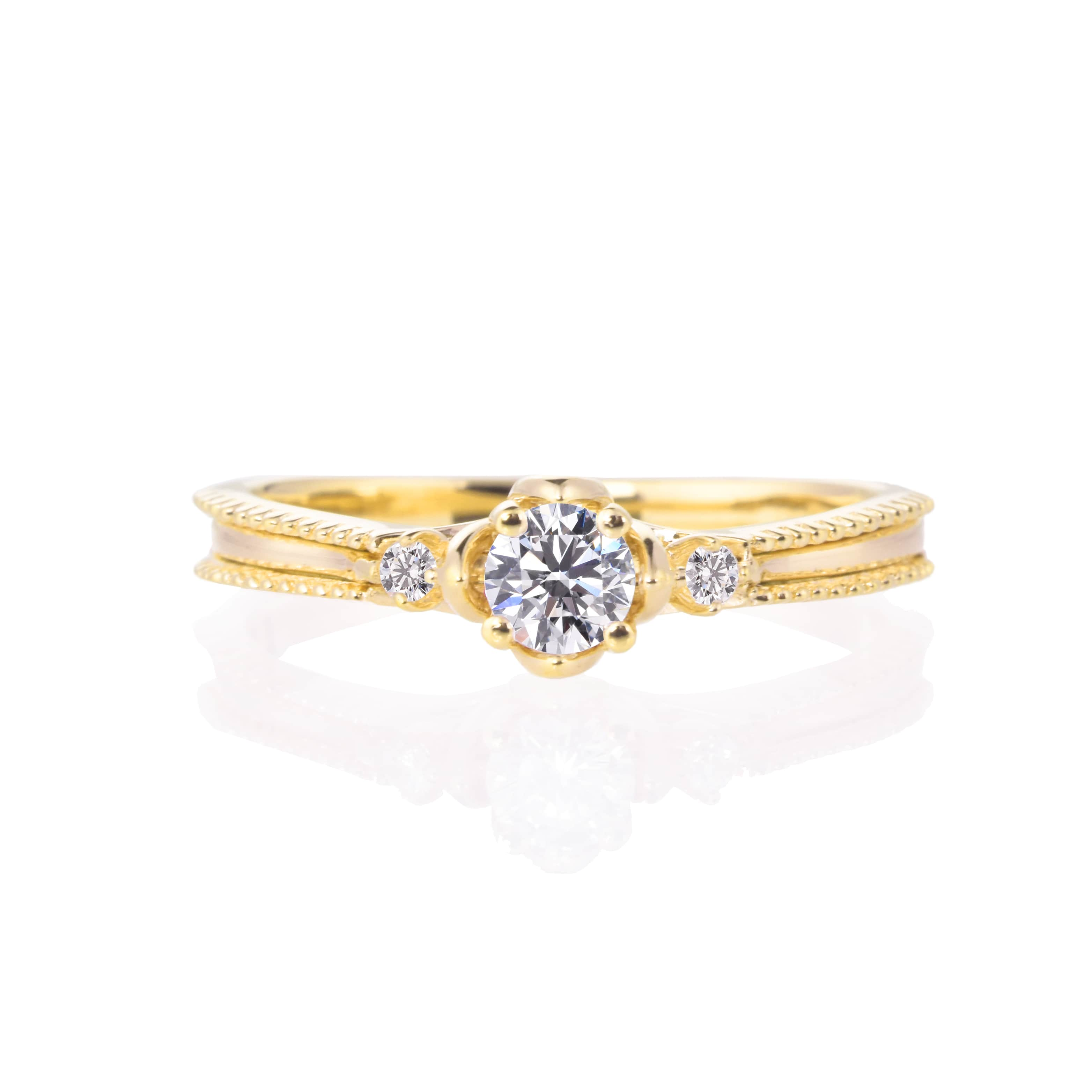 【プロポーズ用】【 0.20ct D SI2 EX】エンゲージリング 婚約指輪【RG230】